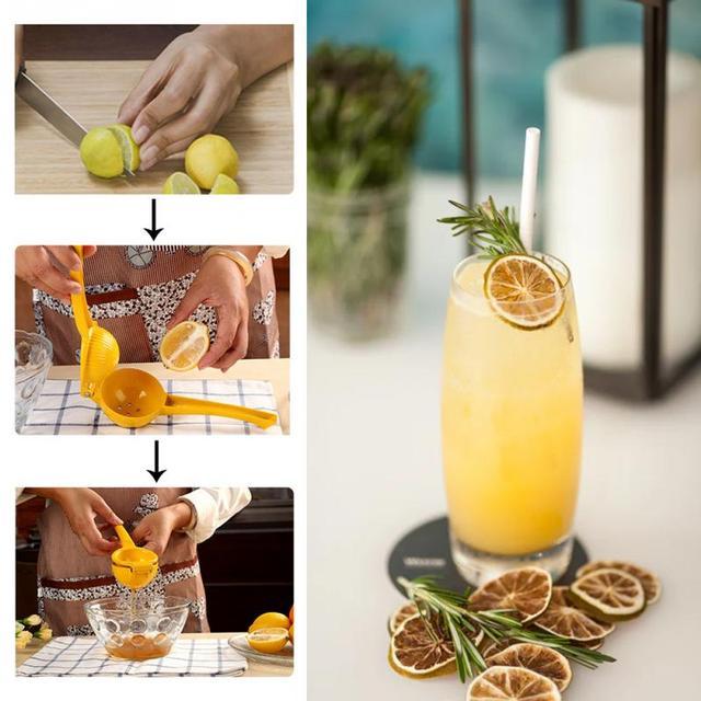 20*6*4CM outils de cuisine citron presse-agrumes en alliage d'aluminium Orange presse-agrumes jus de fruits alésoirs poignée rapide presse outil multifonctionnel 5