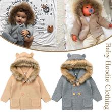 Winter Fashionable Sweaters For Baby Cardigans Autumn Hooded
