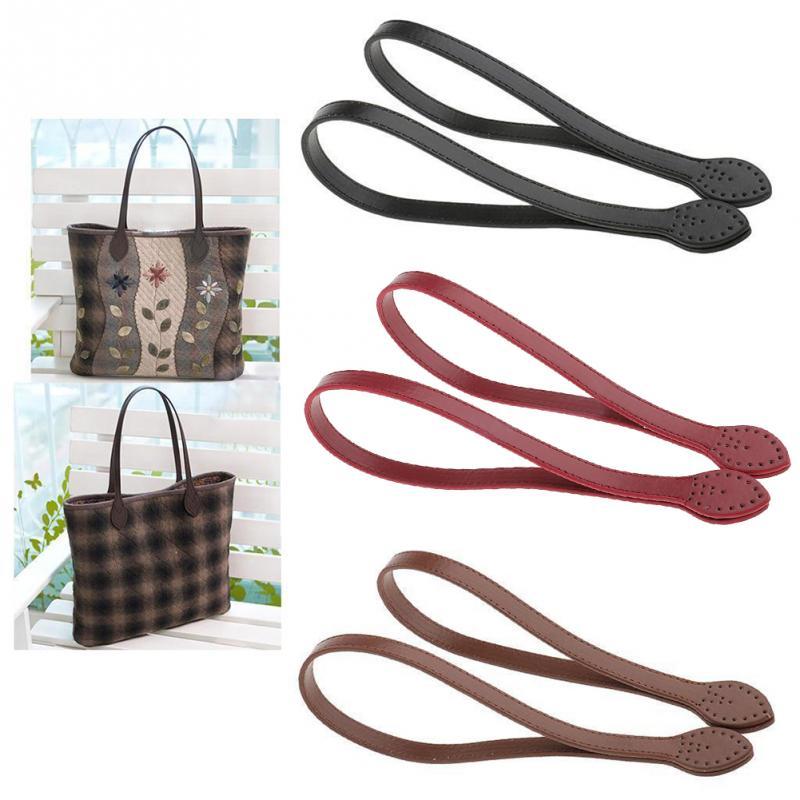 1 Pair 60cm Bag Strap PU Leather Bag Handle Belt Shoulder Bag Handles Replacement For Handbags Strap DIY Accessories