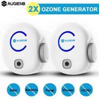 2PCS AUGIENB FA50 Portable Plug In Air Purifier Ozone Generator O3 Disinfector Deodorizer Odor Eliminator Ionic 0 50mg 100 240V