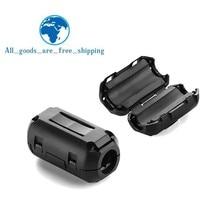 5 мм клип-на Ферритовое кольцо сердечник подавитель шума для EMI RFI Клип кабель активные компоненты фильтры