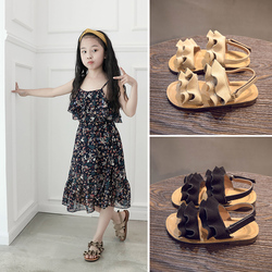 2019 Summer Big wave girl sandals Children's Beach shoes kids shoes Lovely flower shoes Fashion Magic baby shoes for kiad c400