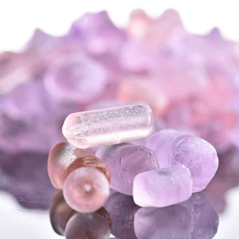 500 г Розовый Фиолетовый Кристалл аквариум аквариумный, декоративный пейзаж Камни Аквариум нижний песок