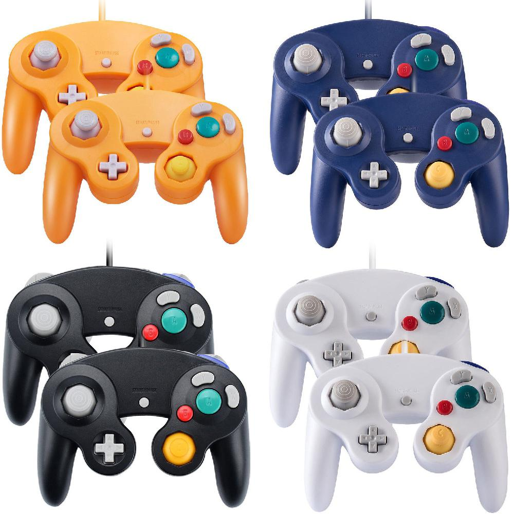 4 Type 2 pcs Wired for NGC Game Controller Gamepad for Nintend for GameCube GC Wii Console Fully compatible with all systems r20