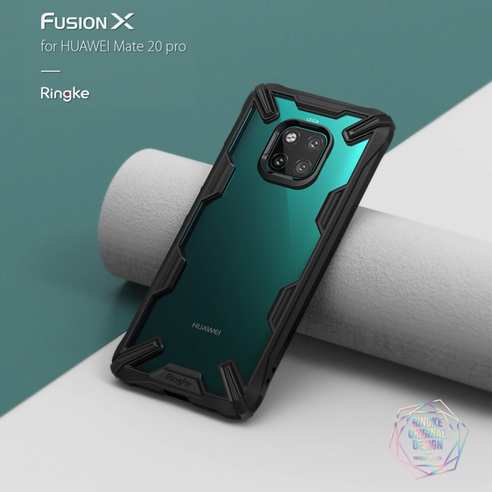Ringke Fusion X for Huawei Mate 20/Pro Case Dual Layer Heavy Duty Drop Protection PC Clear Back Cover and Soft TPU Frame HybridRingke Fusion X for Huawei Mate 20/Pro Case Dual Layer Heavy Duty Drop Protection PC Clear Back Cover and Soft TPU Frame Hybrid