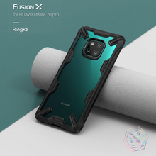 Ringke Fusion X for Huawei Mate 20/Pro Case Dual Layer Heavy Duty Drop Protection PC Clear Back Cover and Soft TPU Frame Hybrid