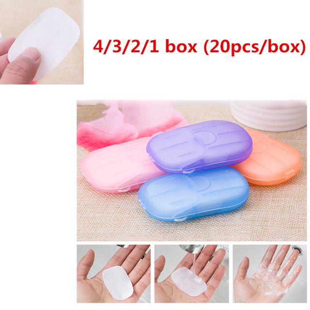 4/3/1Boxed Soap Paper Foaming Disposable Hand Washing Portable Slice Sheets Mini Soap Paper Travel Convenient Daily Life TSLM2