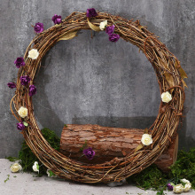 Big Promotion 10CM Wedding Natural Dried Rattan Wreath Garland DIY Party Door Wall Decoration