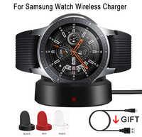 Chargeur sans fil pour Samsung Galaxy Watch 42/46mm Charge chargement Dock pour Galaxy Smart Watch Gear S2 S3 Ticwatch Moto 360 1 2