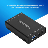 HDMI to USB 3.0 Video Capture Video HDMI Capture Box One button Recording Box Recorder Adapter for Windows 7 8 10 for Computer