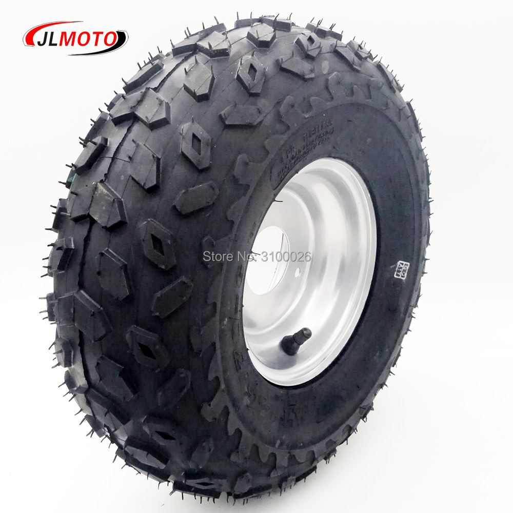6 Inch Rim 3*8.5mm 145/70-6 Off Road Wheel Tire Fit For 49cc 50cc 110cc Electric ATV Scooter Buggy Go Kart Bike Vehicle Parts