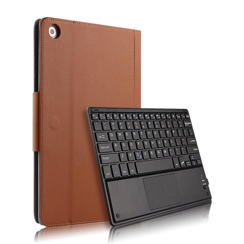 Чехол для Huawei MediaPad M5 Lite 10 BAH2-L09/W19 DL-AL09/W09 10,1 дюйма, защитный чехол для планшетного пк с Bluetooth и клавиатурой, чехол из искусственной кожи