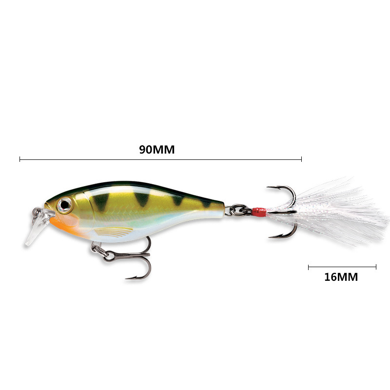 Image 2 - 9cm/13g Artificial Bait Fishing Lure  Wobbler Surface Dog Walking Pencil With Feather Hook Crankbait Lead Jigs Fishing Lures-in Fishing Lures from Sports & Entertainment