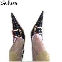 Sorbern/пикантные туфли на ультратонком металлическом высоком каблуке 16 см 18 см, женские туфли лодочки с острым носком, обувь унисекс в китайск