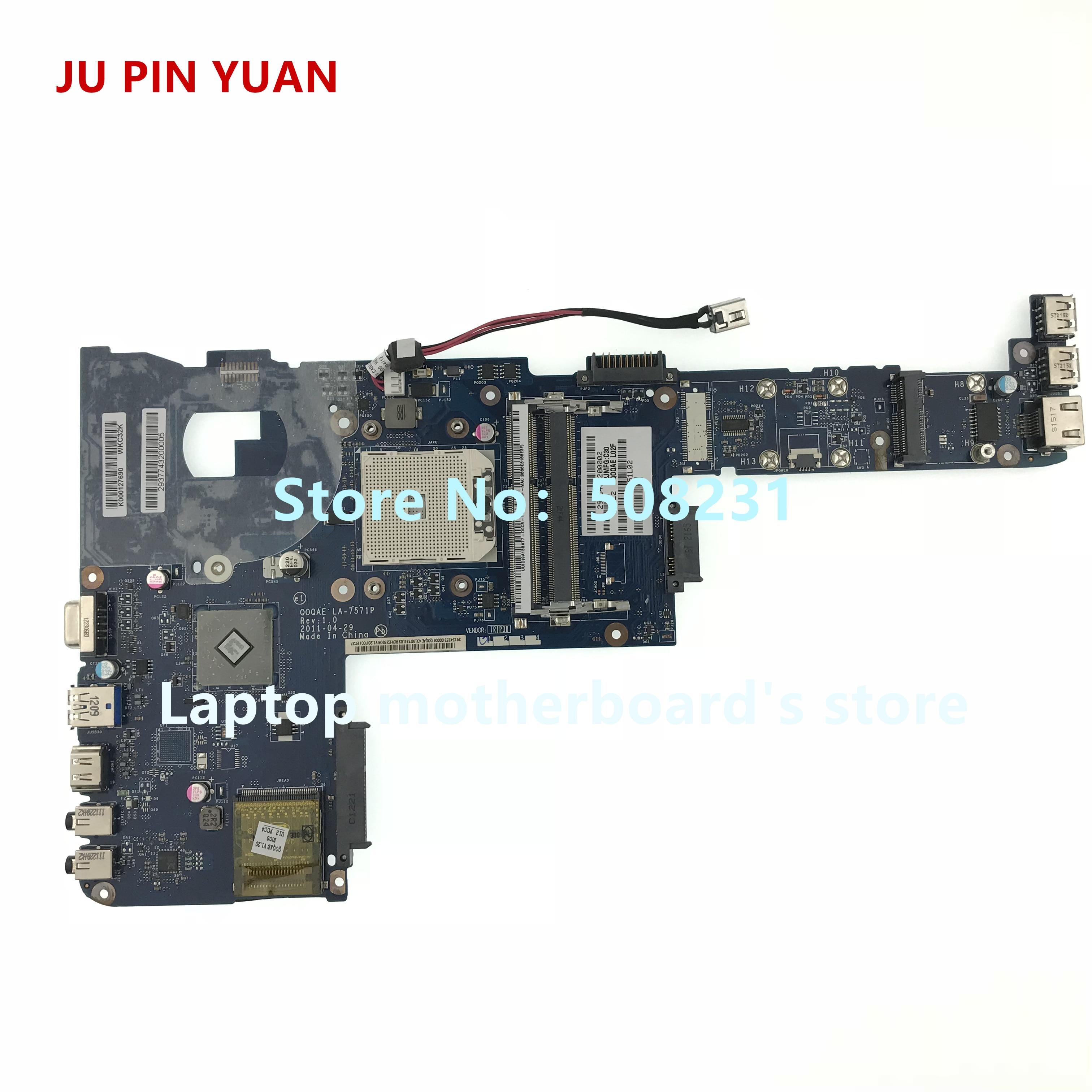 JU PIN YUAN LA-7571P K000127690 for toshiba satellite P740D P745D Laptop motherboard JU PIN YUAN LA-7571P K000127690 for toshiba satellite P740D P745D Laptop motherboard