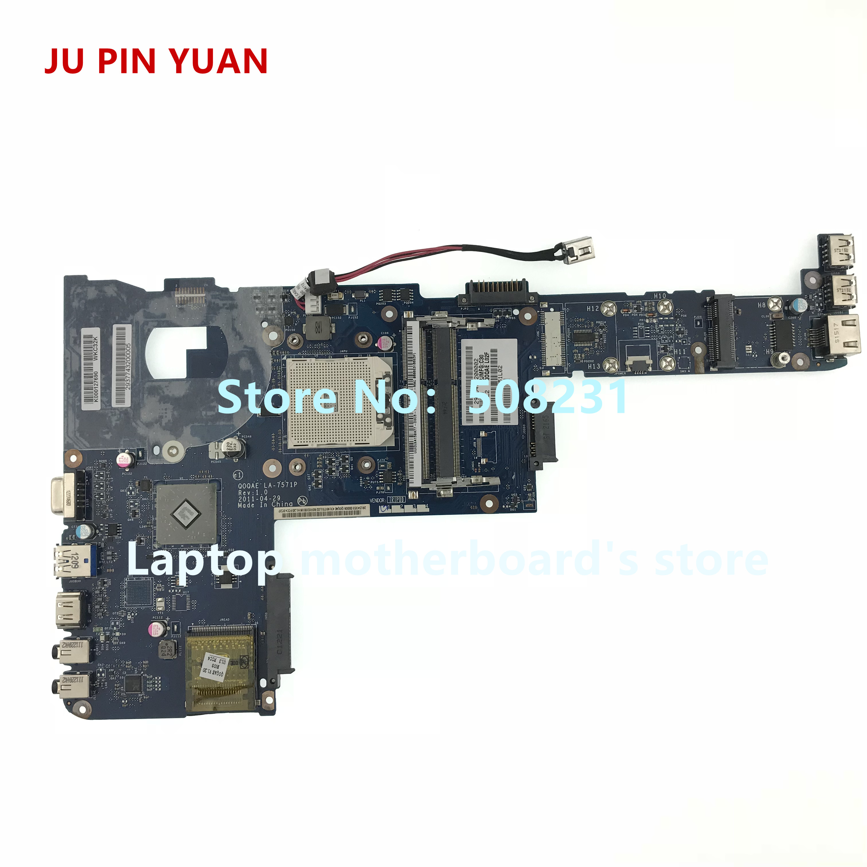 JU PIN YUAN LA-7571P K000127690 For Toshiba Satellite P740D P745D Laptop Motherboard