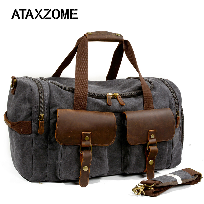 ATAXZOME high quality canvas travel bag large capacity wearable and durable fitness bag can be put