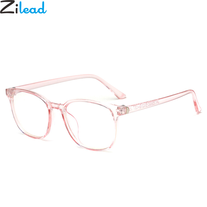 Zilead Square Anti Blue Light Plain Glasses Women&Men Optical Spectacle Glasses Myopia Eyeglasses Frames For Female&Male