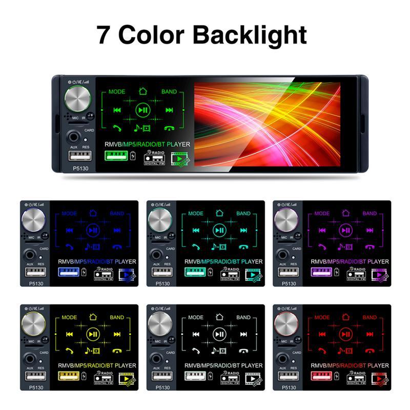 Autoradio automatique 1din 4.1in écran tactile Audio miroir lien stéréo Bluetooth IR caméra de recul USB lecteur Aux AM/FM/RDS Radio - 3