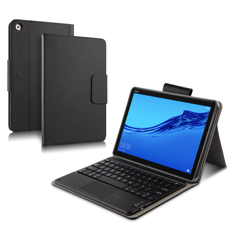 Case For Huawei MediaPad M5 Lite 10 Protective Cover Bluetooth keyboard Protector PU Leather BAH2 W09