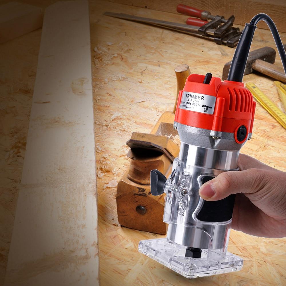 800W 30000rpm Electric Hand Trimmer EU /AU /UK Plug Router Wood Carving Machine 12pcs Router Bit Milling Cutter Woodworking Tool800W 30000rpm Electric Hand Trimmer EU /AU /UK Plug Router Wood Carving Machine 12pcs Router Bit Milling Cutter Woodworking Tool