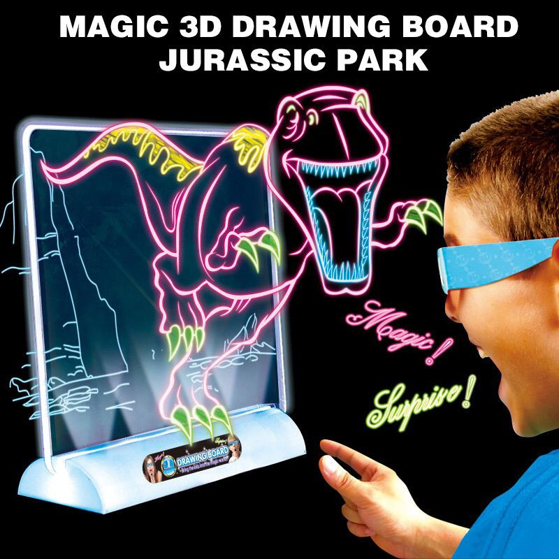 Magic 3D Board Animals Drawing Board 3D Toys For Children Early Childhood Funny Toy Kids Drawing Dinosaurs Space Ocean