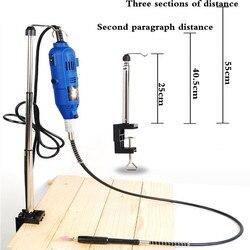 Braçadeira-no eixo flexível moedor rotativo suporte cabide para ferramentas rotativas dremel acessórios da ferramenta elétrica multifunções suporte