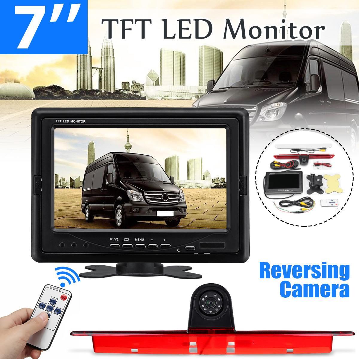 7 pouces TFT moniteur LED caméra de recul de recul pour mercedes-benz pour Dodge Sprinter pour Volkswagen 2006-2015