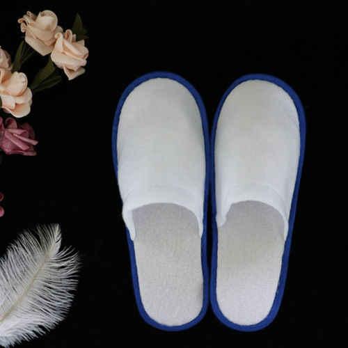 1 пара белых хлопковых тапочек спа-отеля одноразовая обувь домашние Тапочки для гостей