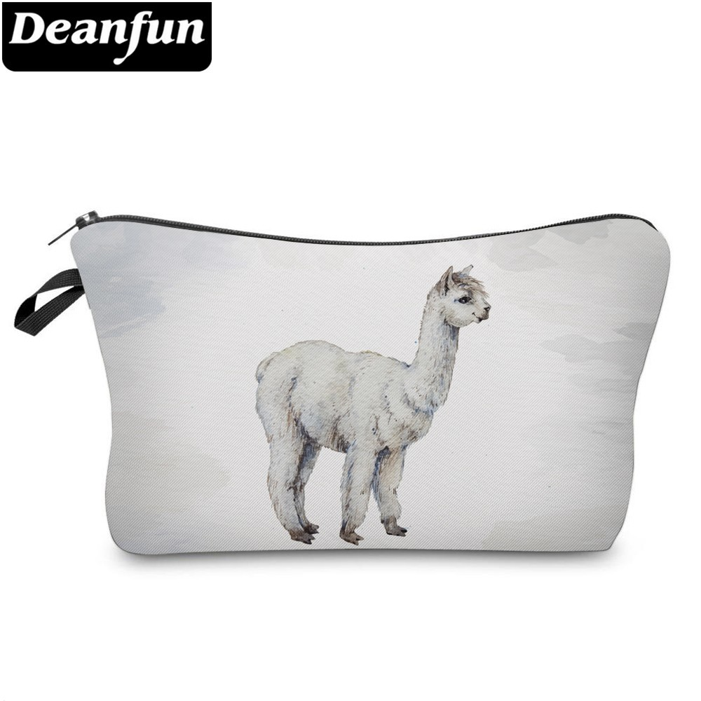 Deanfun Waterproof Vivid Printed Llama Cosmetic Bag Cute Alpaca Makeup Bag Necessaire For Travel Gift  51376 #