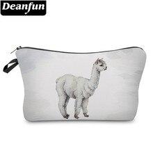 Deanfun Waterproof Vivid Printed Llama Cosmetic Bag Cute Alpaca Makeup Necessaire for Travel Gift  51376 #