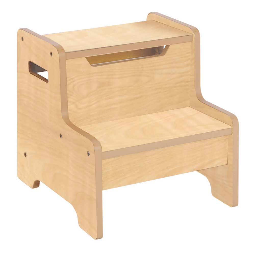 Guidecraft Expressions Step Stool Natural In Stools