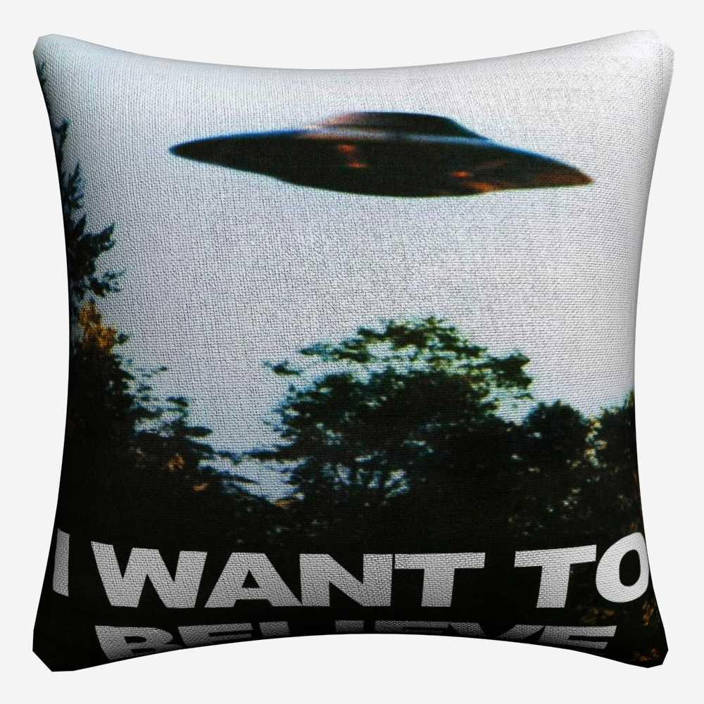 I Want To Believe X File TV Play Decorative Linen Cushion Cover 45x45cm Pillowcase For Sofa Home Decor Pillow Case Almofada