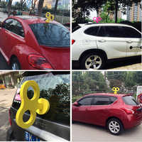 Funny 3D Clockwork Styling Car Roof Rabbit Ear Cartoon Creative Accessories Tail EVA 3M Sticker Universal For MINI Etc All Cars