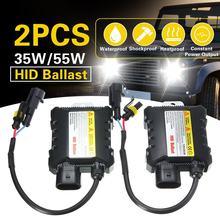 2 шт. 12V hid ксеноновый балласт 35 Вт/55 Вт цифровой тонкий xenon hid балласт электронный балласт зажигания для H1 H3 H3C H4-1 H4-2 H7 H8 9005 9006