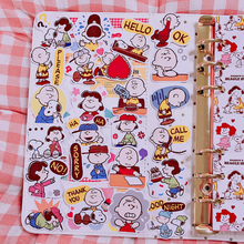 24pcs / Packs Cute Cartoon Snoopy Character Sticker Diary Album Mobile Phone Account Book Diy Decorative Stickers Package