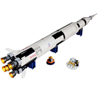 LED Light Building Block Modified Kit For LE GO Ideas NASA Apollo Saturn V 21309 Brick DIY Kit Children Gift (LED Included Only)
