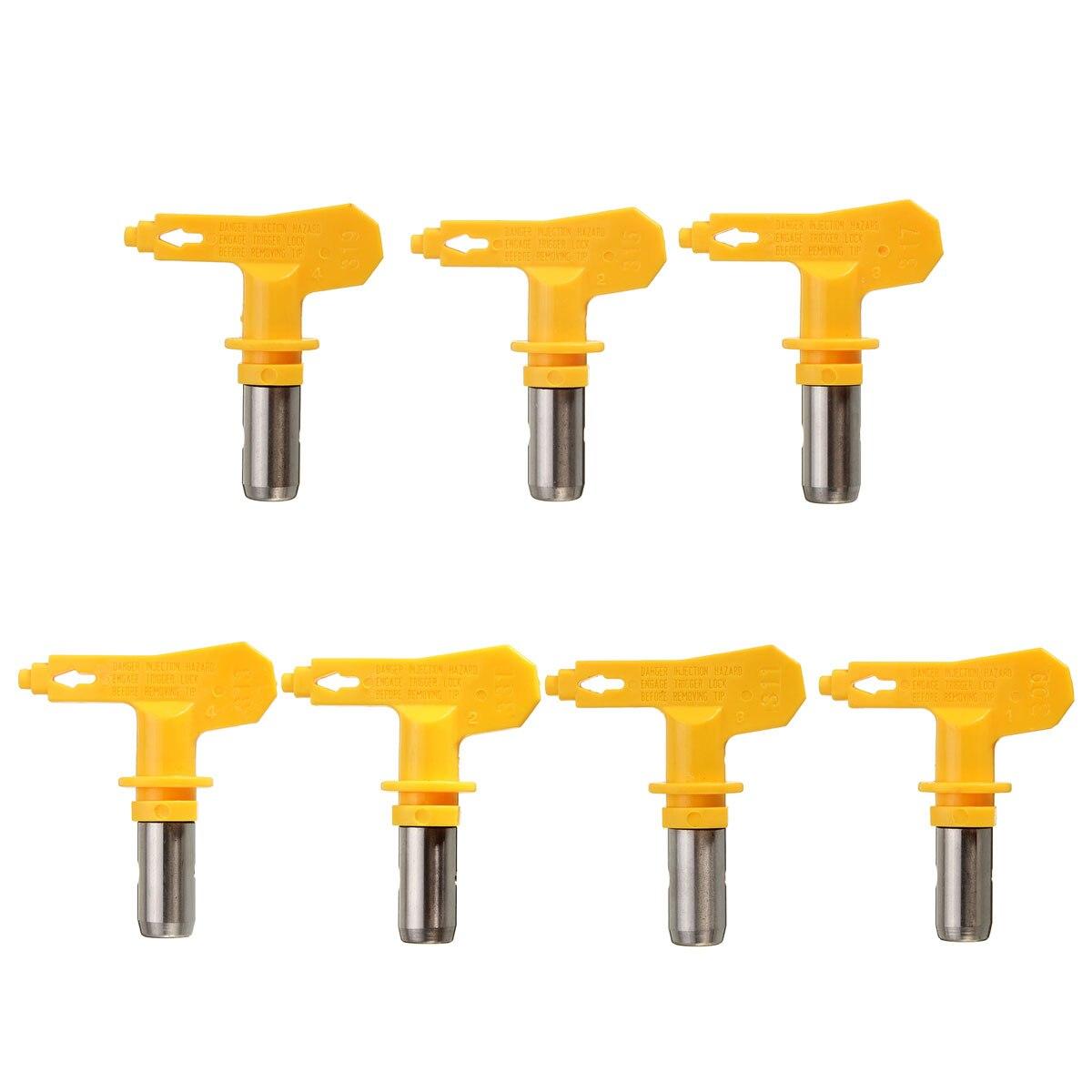 Boquilla de aerógrafo amarillo Serie 3 para pintura sin aire pintura Spray G un polvo de Punta recubrimiento pulverizador de pintura portátil herramienta de reparación de automóviles