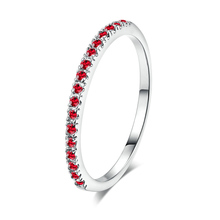 hot deal buy hot red crystal rings for women new bride silver color zircon rings weddings gifts fashion jewelry