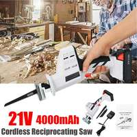 21V Electric Cordless Reciprocating 4000mAh Lithium Battery Saws Wood Metal Chain Saws Cutting Power Tool