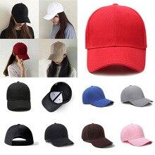 Men Women Plain Curved Baseball Sun Visor Baseball Cap Hat Solid Color Caps Fashion Adjustable Canvas Summer Casual Hats Black
