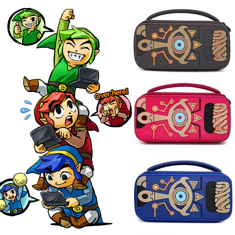 The Legend of Zelda Sheikah Slate Travel Storage Bag Carrying Protector Cover For Switch Console NS Legend Toys Hobbies