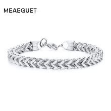 Silver Mens Chains Bracelet Bangle Stainless Steel Vegan Homme Boyfriend Guys Husband 7.6inch 8.7inch(China)