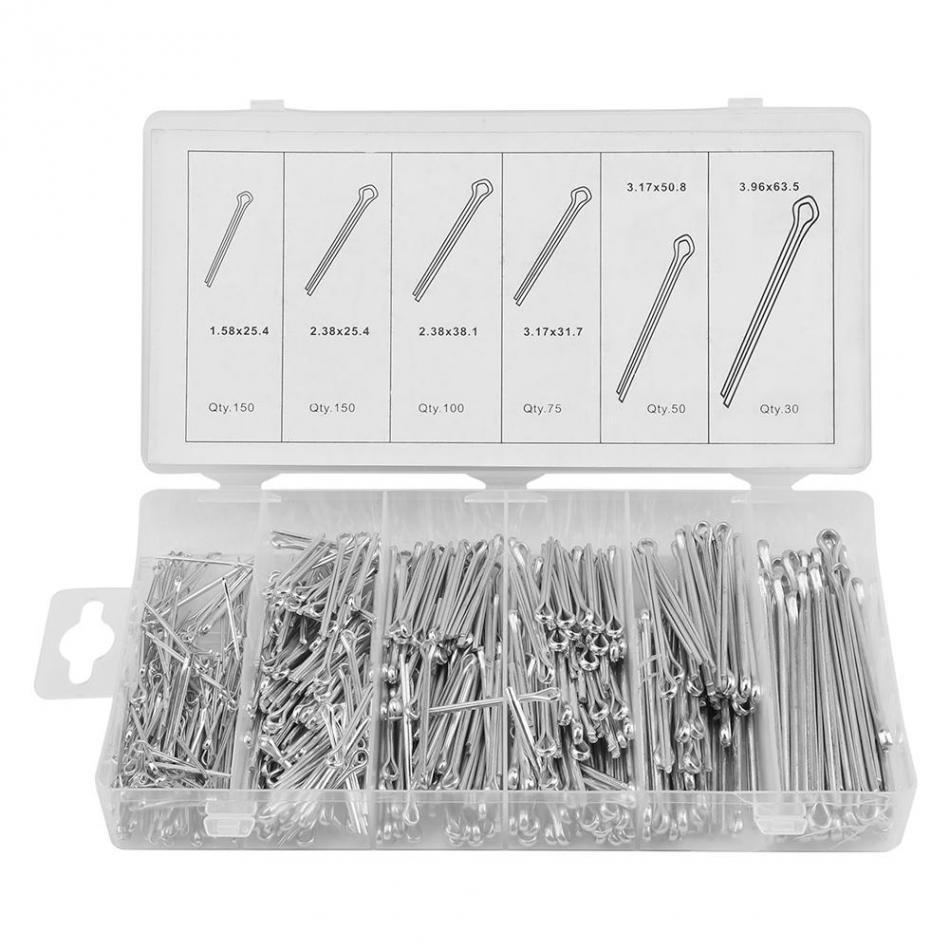 150 pcs Mechanical Hitch Hair R Cotter Pin Tractor Clip Assortment US STOCK