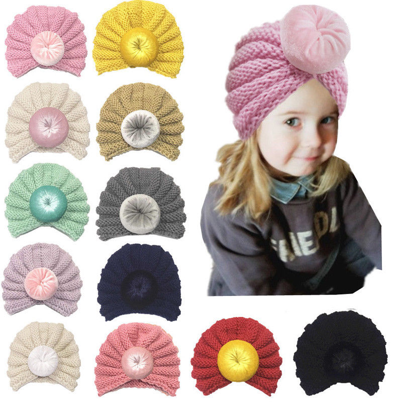 Warm Winter Baby Toddler Girls Boys Accessories Hat Infant Knit