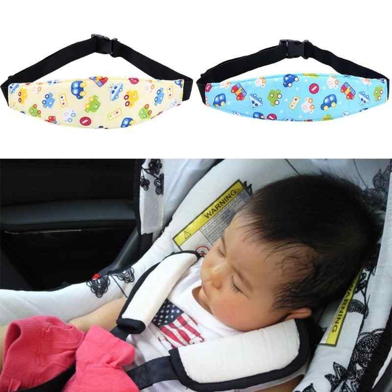 De Dormir de segurança Segurança Strap Fixo Ajuda Cabeça Crianças Carrinho de Assento de Carro Do Bebê Cochilo Apoio Banda Titular Pad Cinto Macio e Espesso conforto