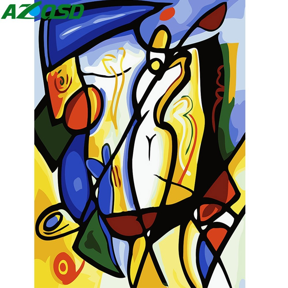 AZQSD DIY Oil Painting Abstract Golf Painting By Numbers Home Decoration Paint Canvas Picture Hand Painted Modern K429