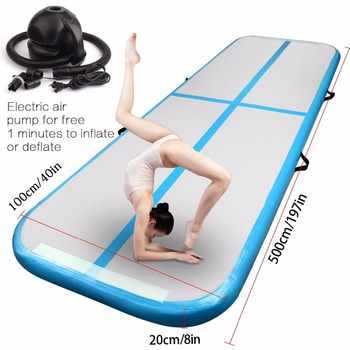 2018 Air track 5m Inflatable Cheap Gymnastics Mattress Gym Tumble Airtrack Floor Tumbling Air Track For Sale Fedex Free Shipping