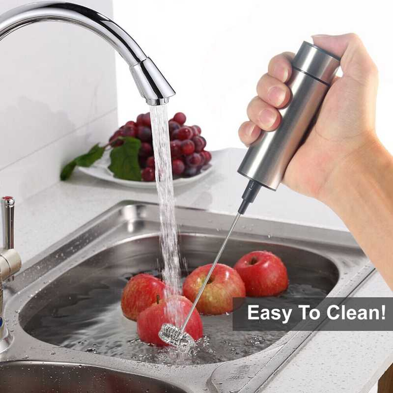 Elétrica handheld leite espuma espuma dupla primavera batedor cabeça agitador misturador misturador agitador máquina de café ferramenta