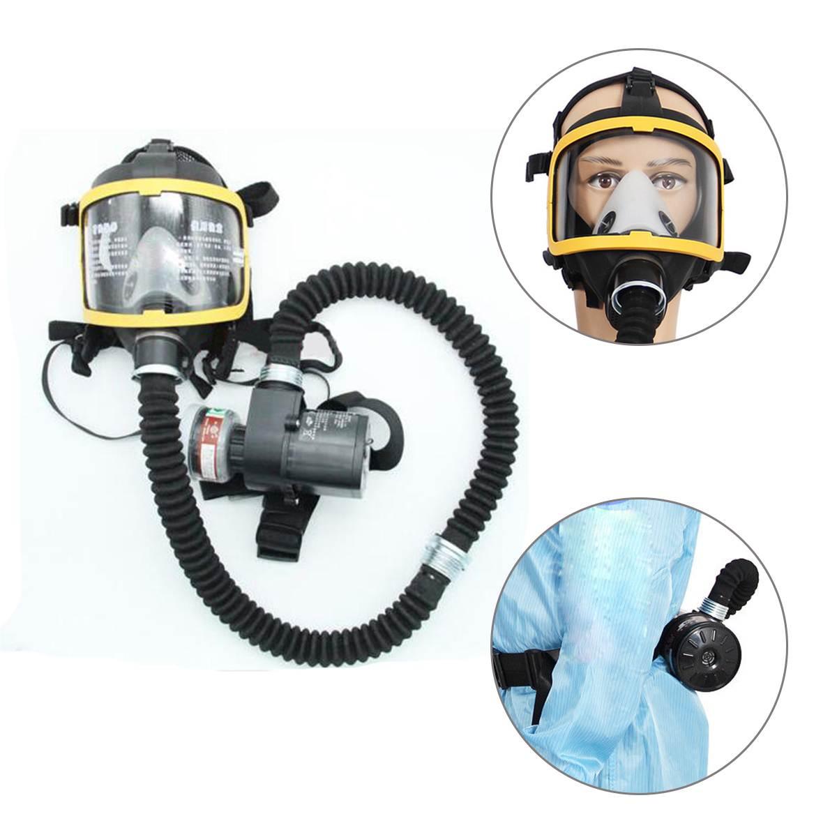 Защитная маска набор Электрический постоянный поток подаваемого воздуха Fed полное лицо противогаз, респиратор Системы бируши для работы но